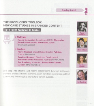 The Producers' Toolbox: New Case Studies in Branded Content - MIPFormats 2014
